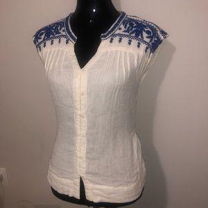 Lucky Brand Tops - NWOT Lucky Brand Linen Button Up